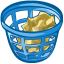 trash basket full icon