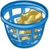 Trash-basket-full icon