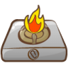 Cooker-fire icon