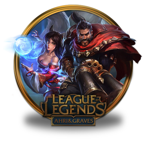 ahri graves icon league of legends gold border iconset