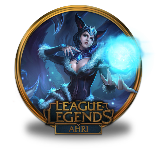 ahri midnight chinese icon league of legends gold border