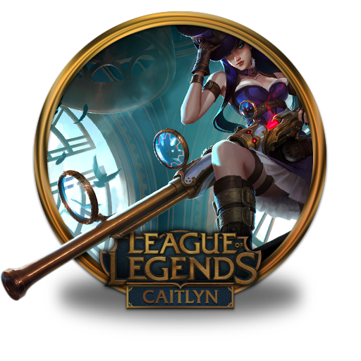 caitlyn icon league of legends gold border iconset fazie69