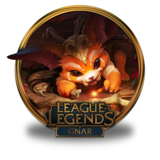 gnar icon league of legends gold border iconset fazie69