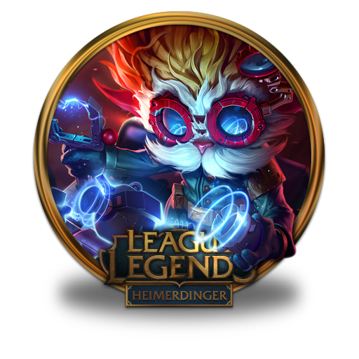 heimerdinger icon league of legends gold border iconset
