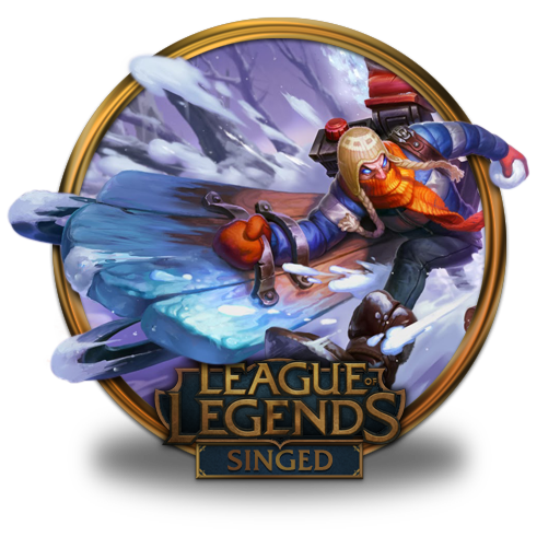 singed icon league of legends gold border iconset fazie69