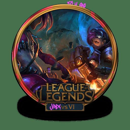 vi jinx icon league of legends gold border iconset fazie69