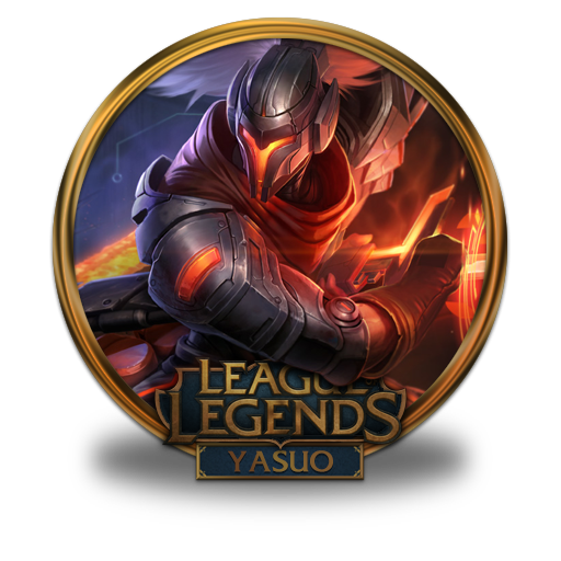Yasuo Icon League Of Legends Gold Border Iconset Fazie69