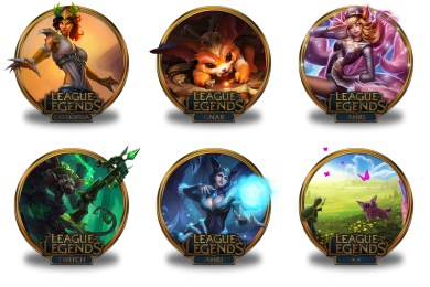 League Of Legends Gold Border Icons