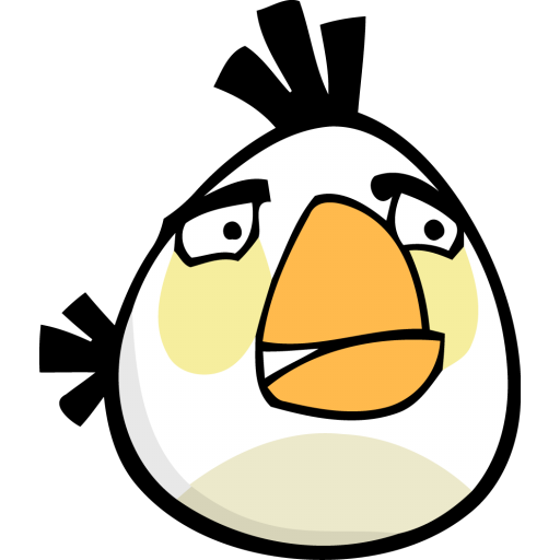 angry bird white icon