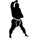 Karate block icon