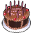 Birth cake icon