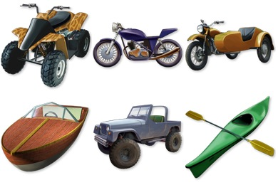 Vehicules Icons