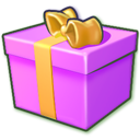 Giftbox-purple icon