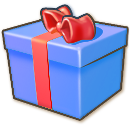 Giftbox blue icon