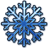 blue snow icon