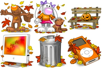 I Love Autumn Icons