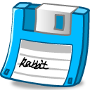 Floppy light blue icon