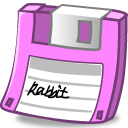 Floppy pink icon