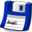Floppy blue icon
