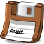 Floppy-brown icon