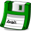 Floppy green icon