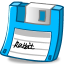 Floppy-light-blue icon