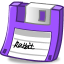 Floppy purple icon