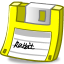 Floppy yellow icon