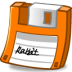 Floppy-orange icon