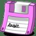 Floppy-pink icon