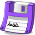 Floppy-purple icon
