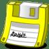 Floppy-yellow icon