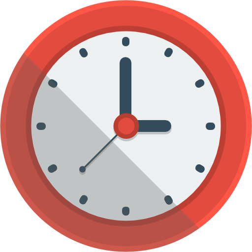 Clock Icon | Flat Iconset | Flat-Icons.com