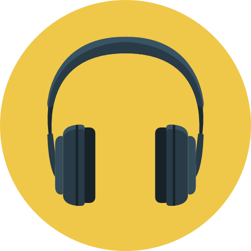 Headphone Icon | Flat Iconset | Flat-Icons.com