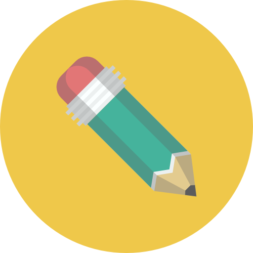 Pencil Icon | Flat Iconset | Flat-Icons.com