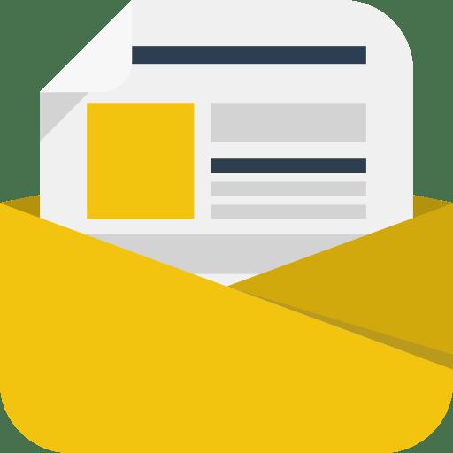 newsletter icon square iconset flaticonscom