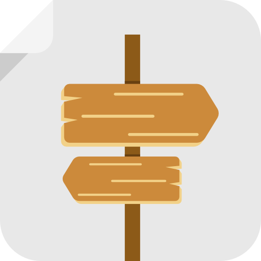 Wooden-sign icon