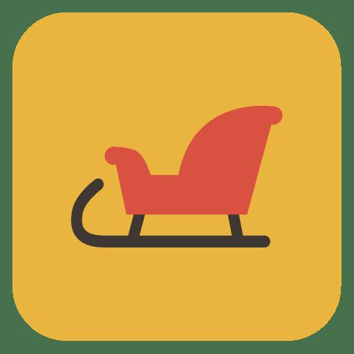 Sled sleigh icon