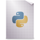 Mimetypes text x python icon