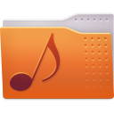 Places folder music icon