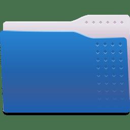 Places folder blue icon