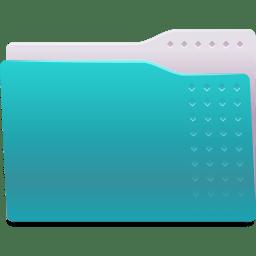 Places folder cyan icon