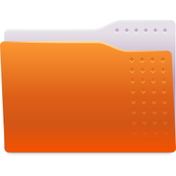 Places folder orange icon