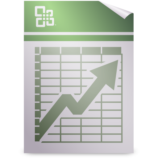 Mimetypes application vnd.ms excel icon