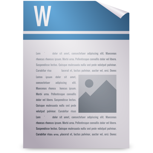 Mimetypes wordprocessing icon
