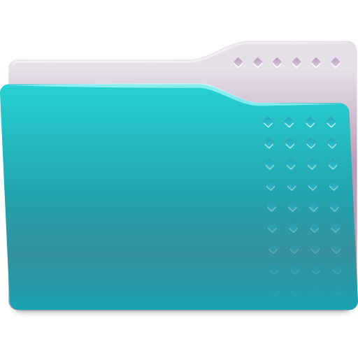 Places folder cyan icon