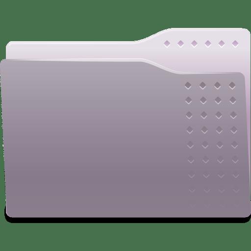 Places folder grey icon