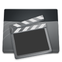 Black Folder Videos icon