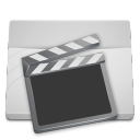 White Folder Videos icon