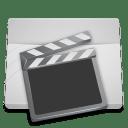 White Folder Videos icon